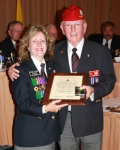 15. Janice Graham, Vancouver, accepted by Shirley Aldridge BC Command.jpg